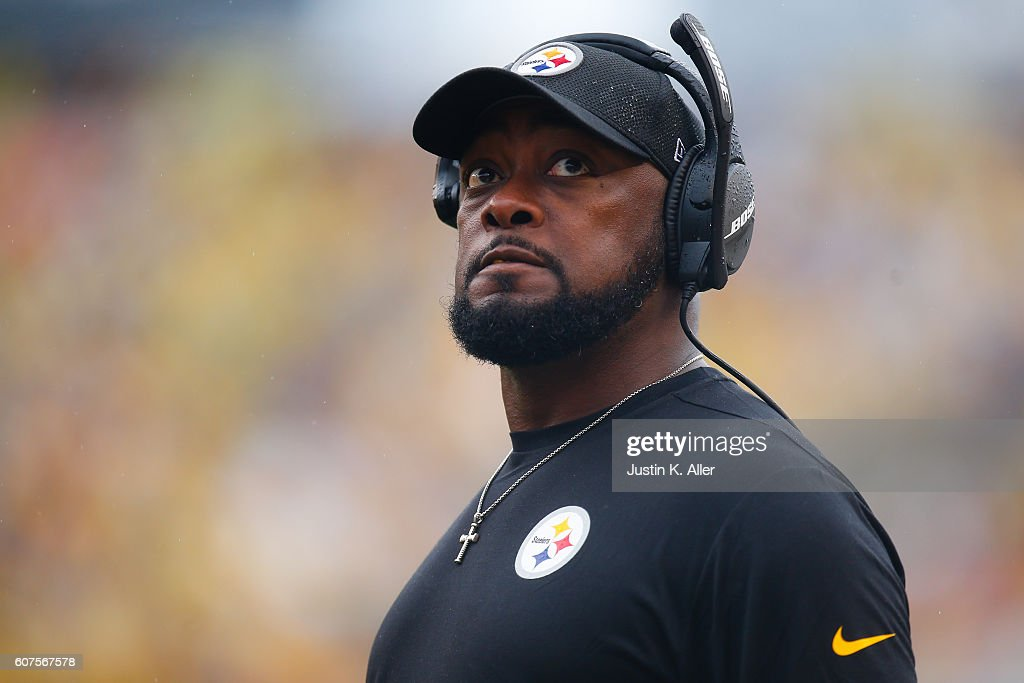Head Coach Mike Tomlin of the Pittsburgh Steelers looks on against the Cincinnati Bengals in the first half during the game at Heinz Field on September 18, 2016 in Pittsburgh, Pennsylvania.