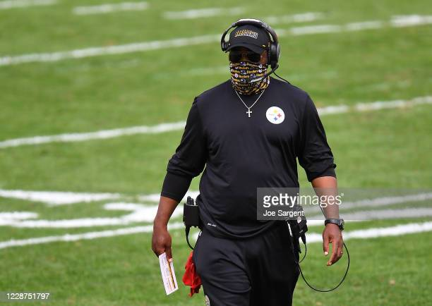 Head coach Mike Tomlin of the Pittsburgh Steelers looks on during the first quarter against the Houston Texans at Heinz Field on September 27, 2020...