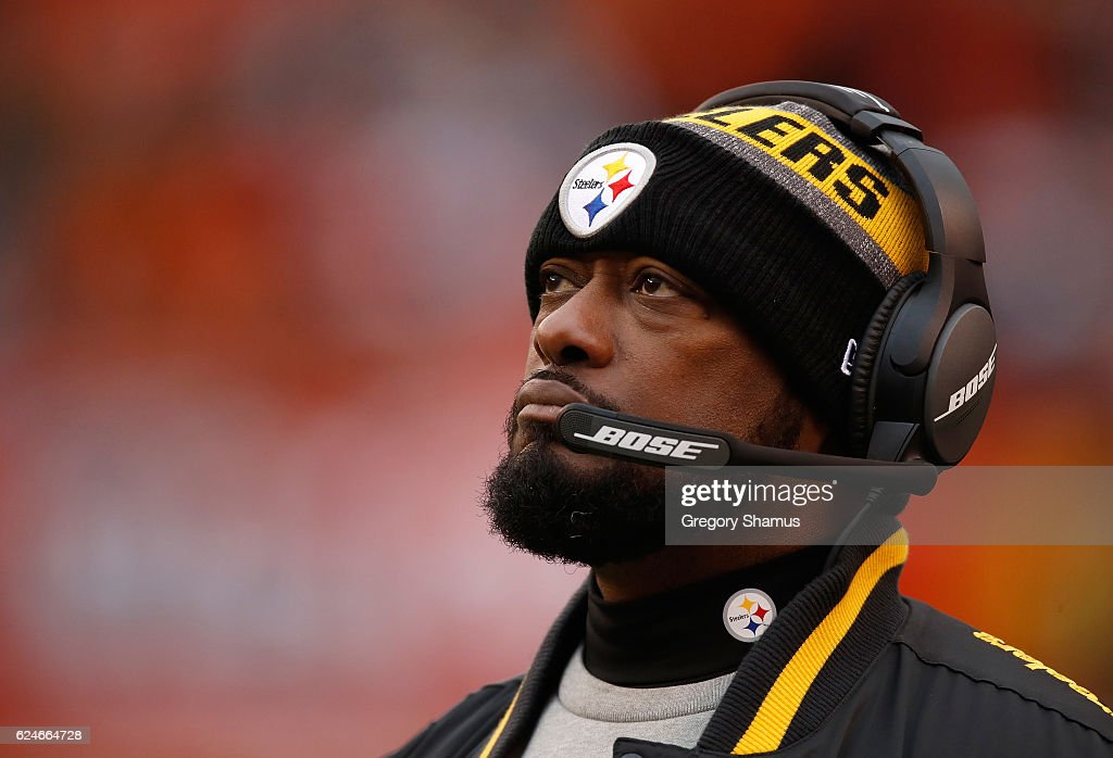 Head coach Mike Tomlin of the Pittsburgh Steelers looks on during the fourth quarter against the Cleveland Browns at FirstEnergy Stadium on November 20, 2016 in Cleveland, Ohio.
