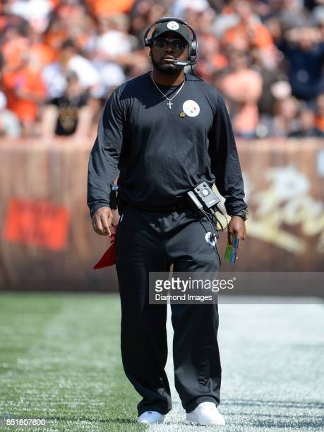 Head coach Mike Tomlin of the Pittsburgh Steelers walks along the sideline in the first quarter of a game on September 10 2017 against the Cleveland...