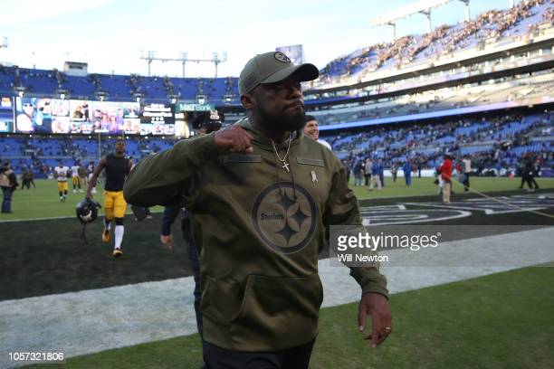 Head Coach Mike Tomlin of the Pittsburgh Steelers walks off the field after the Pittsburgh Steelers 2316 win over the Baltimore Ravens at MT Bank...