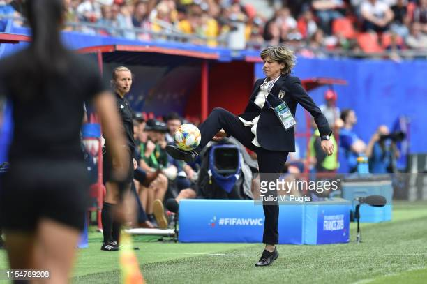 Head Coach Milena Bertolini of Italy Women in action during the 2019 FIFA Women's World Cup France group C match between Australia and Italy at Stade...