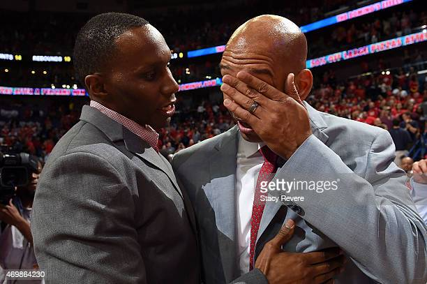 Head coach Monty Williams of the New Orleans Pelicans becomes emotional following a victory over the San Antonio Spurs at the Smoothie King Center on...
