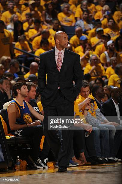 Head coach Monty Williams of the New Orleans Pelicans during Game One of the Western Conference Quarterfinals against the Golden State Warriors...
