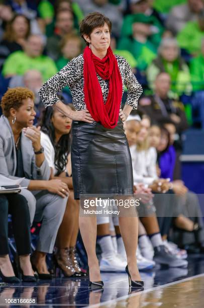 Head coach Muffet McGraw of the Notre Dame Fighting Irish at Purcell Pavilion on December 2 2018 in South Bend Indiana