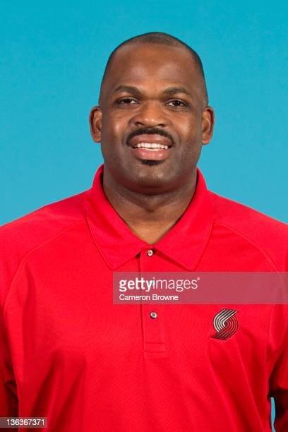 Head coach Nate McMillan of the Portland Trail Blazers poses for a portrait during Media Day on December 16 2011 at the Rose Garden Arena in Portland...