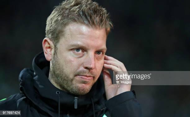 Head coach 'nFlorian Kohfeldt of Werder Bremen 'nlooks on 'nprior 'nthe Bundesliga match between SV Werder Bremen and VfL Wolfsburg at Weserstadion...