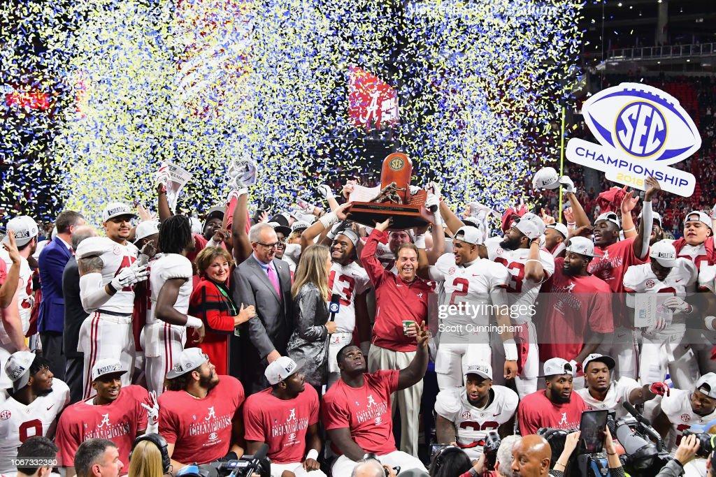 SEC Championship - Alabama v Georgia : News Photo