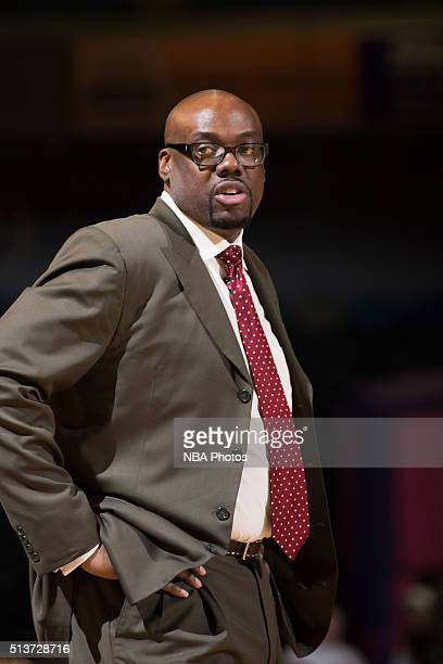 Head coach Nick Van Exel of the Texas Legends coaches during a game against the Reno Bighorns at the Reno Events Center on March 3 2016 in Reno...