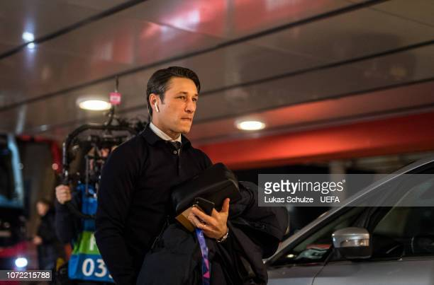 Head Coach Niko Kovac arrives for the UEFA Champions League Group E match between Ajax Amsterdam and FC Bayern Muenchen at Johan Cruyff Arena on...
