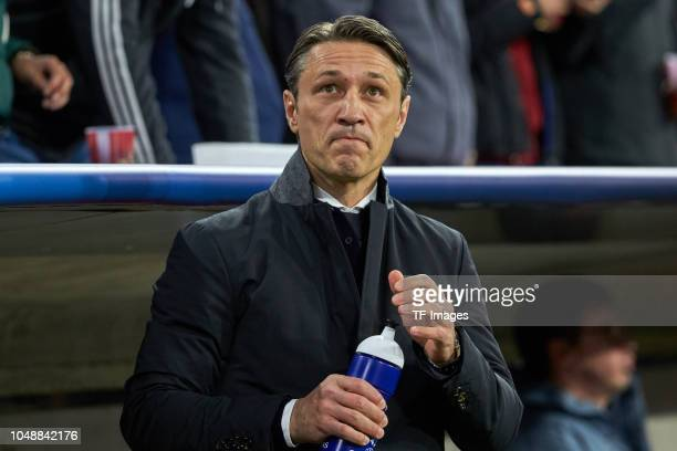 Head coach Niko Kovac of Bayern Muenchen looks on during the Group A match of the UEFA Champions League between Borussia Dortmund and AS Monaco at...