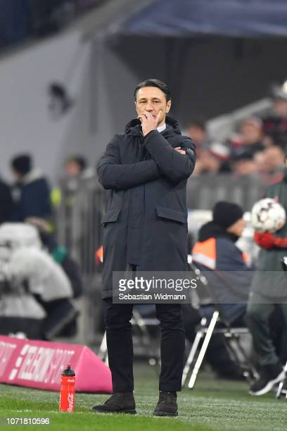 Head coach Niko Kovac of Bayern Muenchen looks on during the Bundesliga match between FC Bayern Muenchen and Fortuna Duesseldorf at Allianz Arena on...
