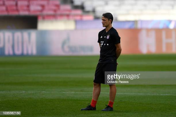 Head coach Niko Kovac of FC Bayern Muenchen during a FC Bayern Muenchen training session ahead of the Group E match of the UEFA Champions League...