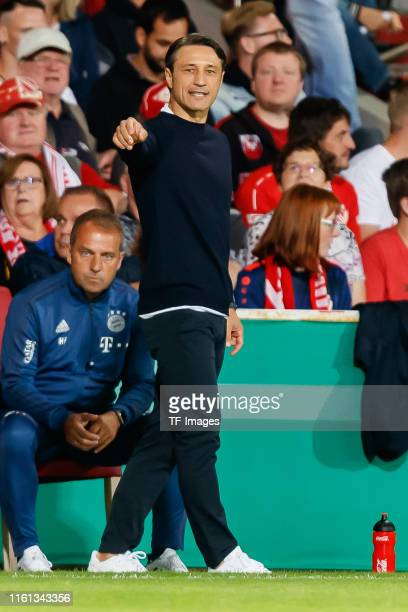 Head coach Niko Kovac of FC Bayern Muenchen gestures during the DFB Cup first round match between Energie Cottbus and FC Bayern Muenchen at Stadion...