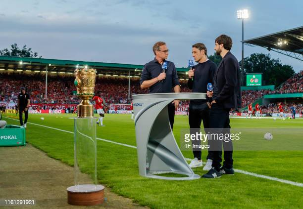 Head coach Niko Kovac of FC Bayern Muenchen gives an interview prior to the DFB Cup first round match between Energie Cottbus and FC Bayern Muenchen...