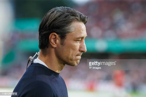 Head coach Niko Kovac of FC Bayern Muenchen looks on prior to the DFB Cup first round match between Energie Cottbus and FC Bayern Muenchen at Stadion...