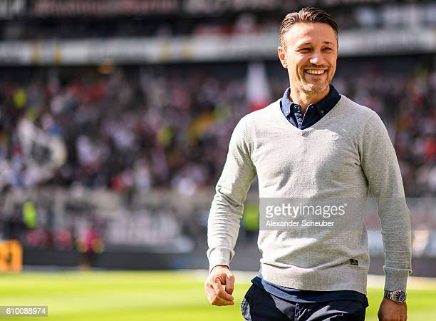 Head coach Niko Kovac of Frankfurt during the Bundesliga match between Eintracht Frankfurt and Hertha BSC at CommerzbankArena on September 24 2016 in...