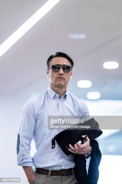Head coach Niko Kovac of Frankfurt looks on as he arrives prior to the Bundesliga match between FC Bayern Muenchen and Eintracht Frankfurt at Allianz...
