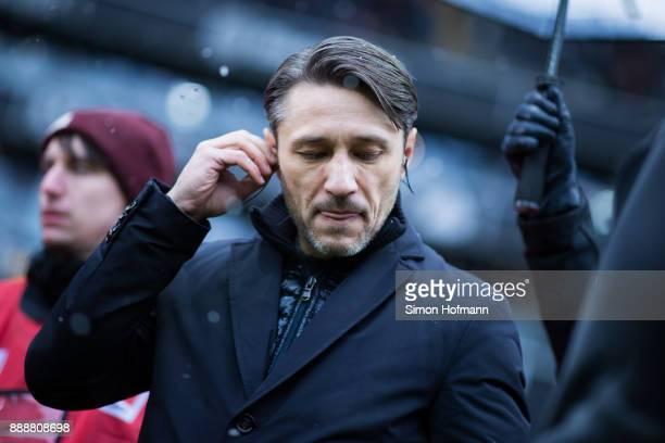Head coach Niko Kovac of Frankfurt looks on during the Bundesliga match between Eintracht Frankfurt and FC Bayern Muenchen at CommerzbankArena on...