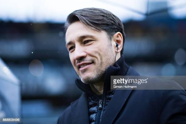 Head coach Niko Kovac of Frankfurt looks on prior to the Bundesliga match between Eintracht Frankfurt and FC Bayern Muenchen at CommerzbankArena on...