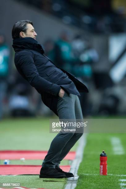 Head coach Niko Kovac of Frankfurt reacts during the Bundesliga match between Eintracht Frankfurt and FC Bayern Muenchen at CommerzbankArena on...