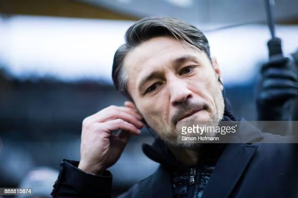 Head coach Niko Kovac of Frankfurt reacts prior to the Bundesliga match between Eintracht Frankfurt and FC Bayern Muenchen at CommerzbankArena on...