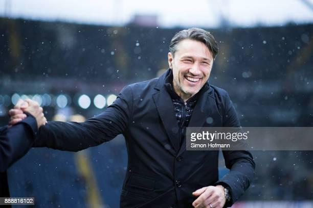 Head coach Niko Kovac of Frankfurt smiles prior to the Bundesliga match between Eintracht Frankfurt and FC Bayern Muenchen at CommerzbankArena on...