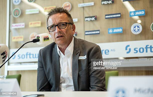 Head coach Norbert Meier of Darmstadt during the new head coach press conference at darmstadtium on June 15 2016 in Darmstadt Germany