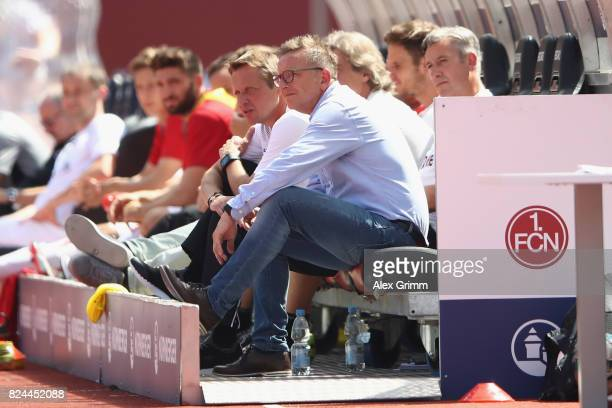 Head coach Norbert Meier of Kaiserslautern reacts during the Second Bundesliga match between 1 FC Nuernberg and 1 FC Kaiserslautern at...