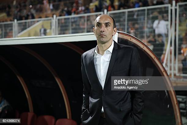 Head coach of Adanaspor Krunoslav Jurcic looks on during the Turkish Spor Toto Super Lig match between Adanaspor and Besiktas at Adana 5 Ocak Fatih...