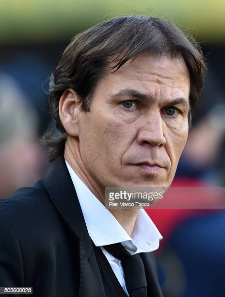 Head Coach of AS Roma Rudi Garcia looks during the Serie A match between AC Chievo Verona and AS Roma at Stadio Marc'Antonio Bentegodi on January 6,...