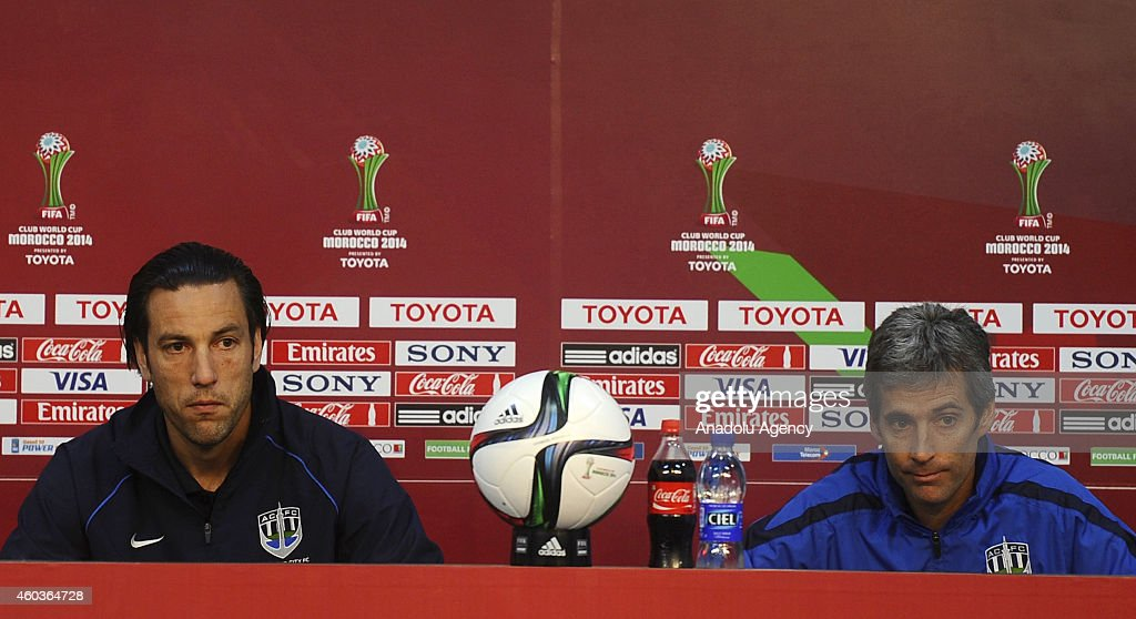 Head Coach Of Auckland City Fc Ramon Tribulietx And Team