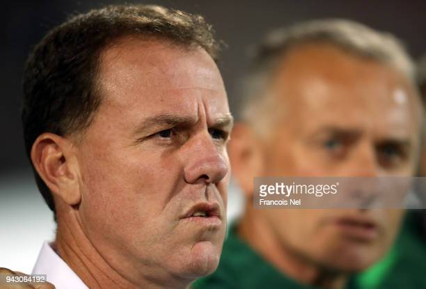 Head coach of Australia Alen Stajcic looks on prior to the AFC Women's Asian Cup Group B match between Australia and South Korea at the King Abdullah...
