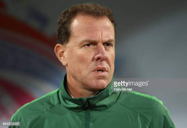 Head coach of Australia Alen Stajcic looks on prior to the AFC Women's Asian Cup Group B match between Vietnam and Australia at the Amman...