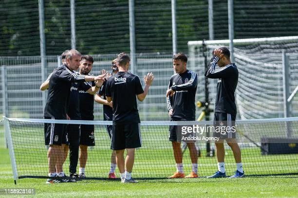 Head Coach of Besiktas Abdullah Avci leads a training session within summer camp as part of the Turkish Super Lig new season preparations in...