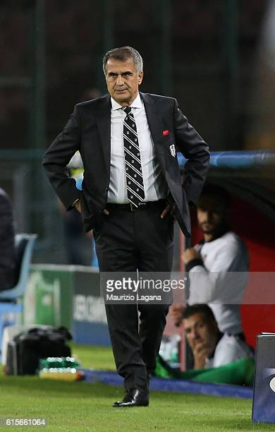 Head coach of Besiktas Senol Gunes during the UEFA Champions League match between SSC Napoli and Besiktas JK at Stadio San Paolo on October 19 2016...