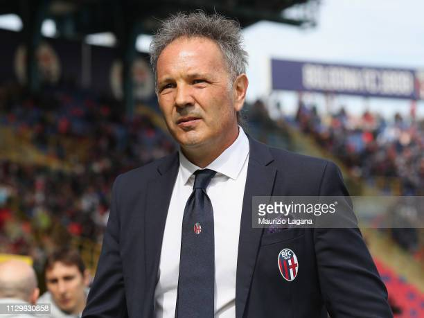 Head coach of Bologna Sinisa Mihajlovic looks on during the Serie A match between Bologna FC and Cagliari at Stadio Renato Dall'Ara on March 10 2019...