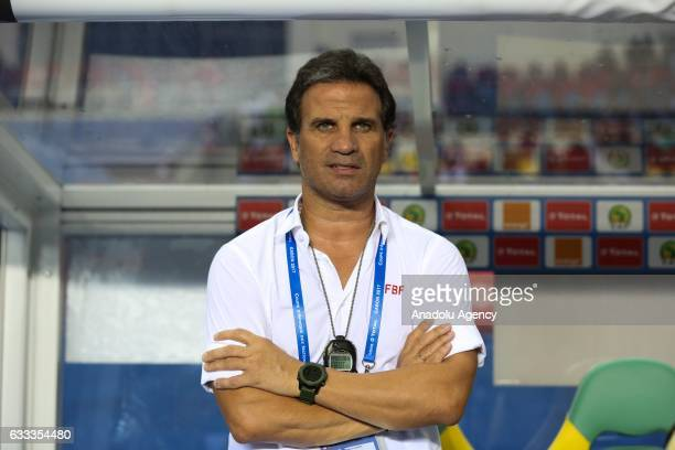 Head Coach of Burkina Faso Paulo Duartef is seen before the 2017 Africa Cup of Nations semifinal football match between Burkina Faso and Egypt at the...