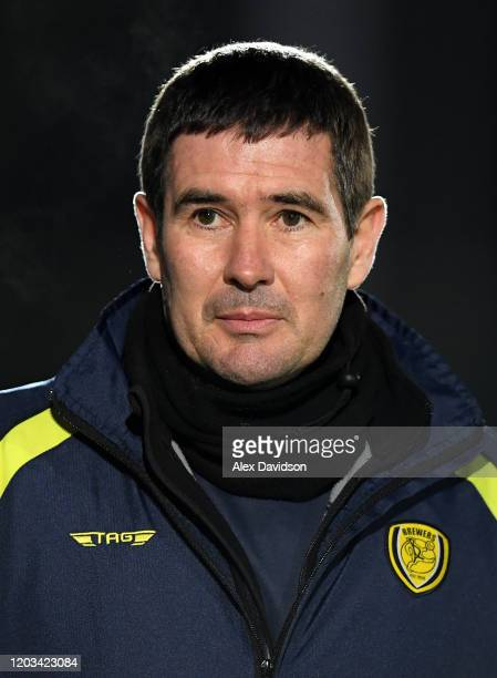 Head Coach of Burton Albion Nigel Clough looks on during the Sky Bet League One match between AFC Wimbledon and Burton Albion at The Cherry Red...