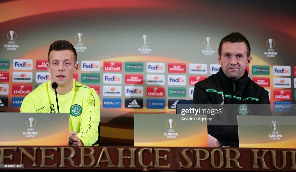 Celtic Press conference in Istanbul : News Photo