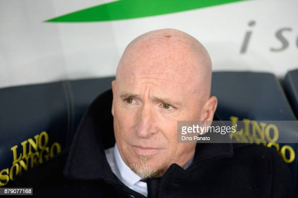 Head coach of Chievo Verona Rolando Maran looks in during the Serie A match between AC Chievo Verona and Spal at Stadio Marc'Antonio Bentegodi on...