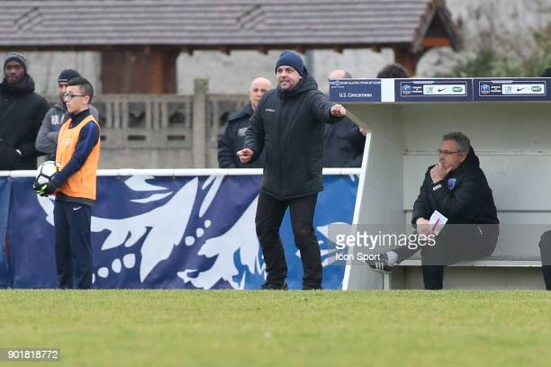 Head coach of Concarneau Nicolas Cloarec during the french National Cup match between Houilles and Concarneau on January 6 2018 in Houilles France