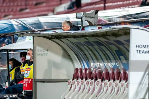 Head coach of CRF Cluj, Dan Petrescu sent out of the playfield, in the tribunes due to protesting to the referee during the 7th game in the Romania...