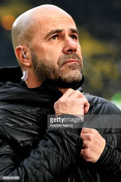 Head coach of Dortmund Peter Bosz is seen before Bundesliga soccer match between Borussia Dortmund and Werder Bremen at the SignalIduna Park in...