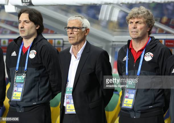 Head Coach of Egypt Hector Cuper is seen before the 2017 Africa Cup of Nations semifinal football match between Burkina Faso and Egypt at the Stade...