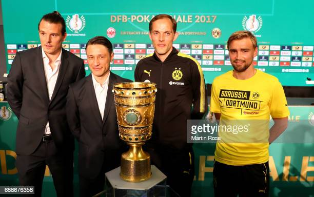 Head coach of Eintracht Frankfurt Niko Kovac team captain of Eintracht Frankfurt Alexander Meier head coach of Borussia Dortmund Thomas Tuchel team...