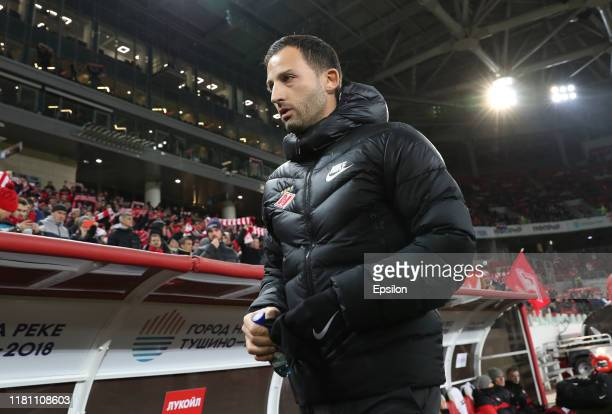 Head coach of FC Spartak Moscow Domenico Tedesco during the Russian Football League match between FC Spartak Moscow and FC Krylia Sovetov Samara on...