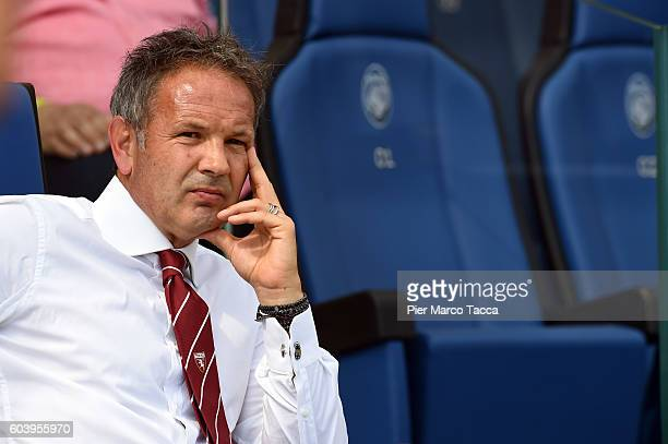 Head Coach of FC Torino Sinisa Mihajlovic looks during the Serie a match between Atalanta BC and FC Torino at Stadio Atleti Azzurri d'Italia on...