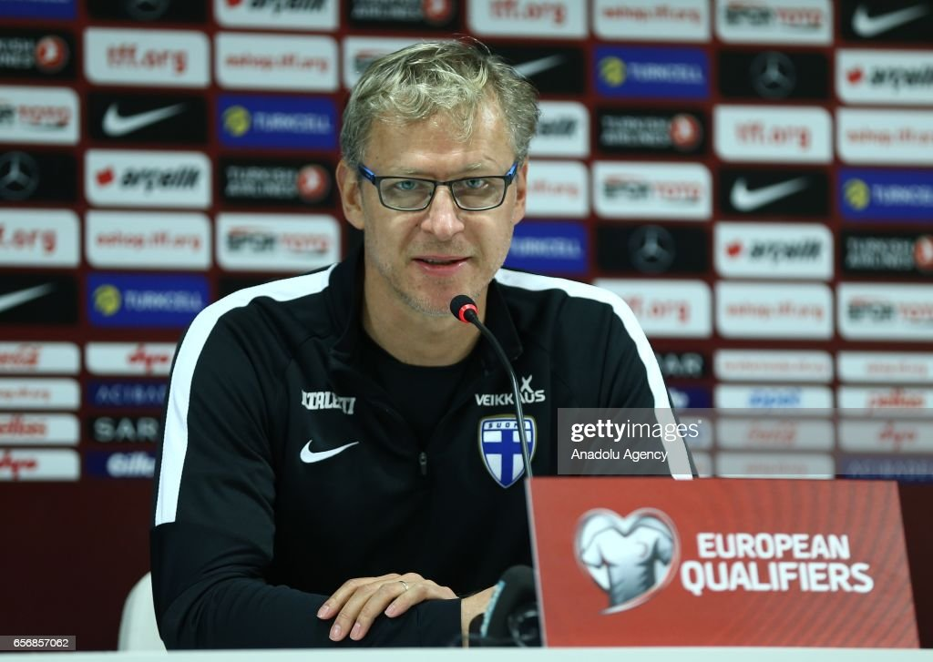Finland National Football Team's press conference in Antalya : News Photo