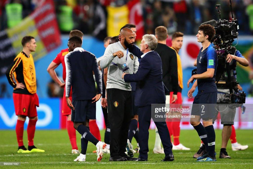Belgium v France: Semi Final - 2018 FIFA World Cup Russia : Photo d'actualité